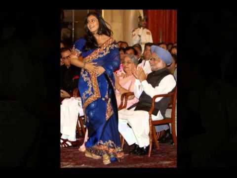 KAJOL being conferred with PADMASHRI