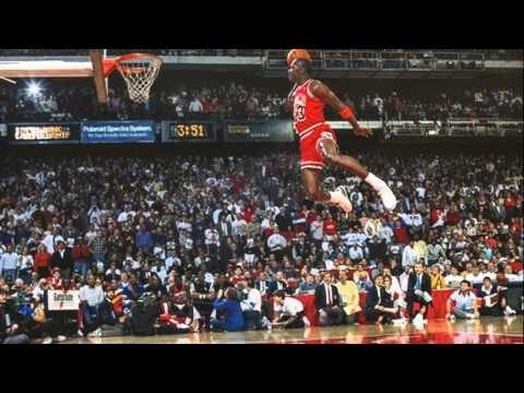 3f600ae30ea9 Michael Jordan Free Throw Line Dunk - YouTube