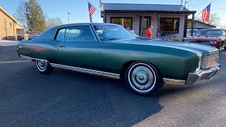 Test Drive 1970 Chevrolet Monte Carlo Matching Numbers $12,900 Maple Motors #972