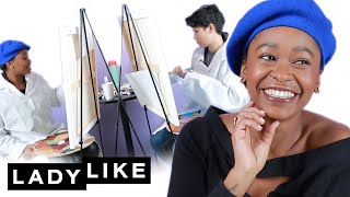 Download Jen And Freddie Paint Portraits Of Each Other• Ladylike Mp3 and Videos