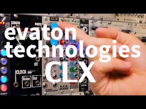 Evaton Technologies CLX Dual Eurorack Clock Module Demo