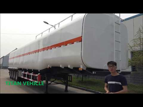 Heavy fuel oil truck tanker 90000 liter fuel tank semi trailer oil tank trailer for sale