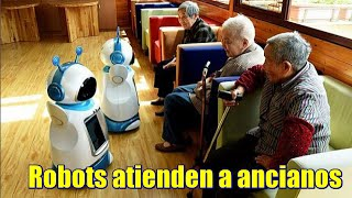 Robots atienden a ancianos en China
