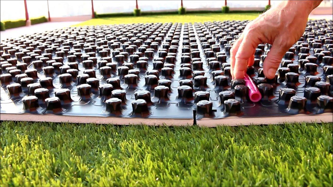 Ремонт пробоя водяного теплого пола - YouTube