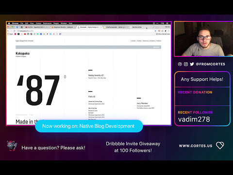 Part 1: Designing and Coding a Website Live from Scratch! (Twitch Stream #2)