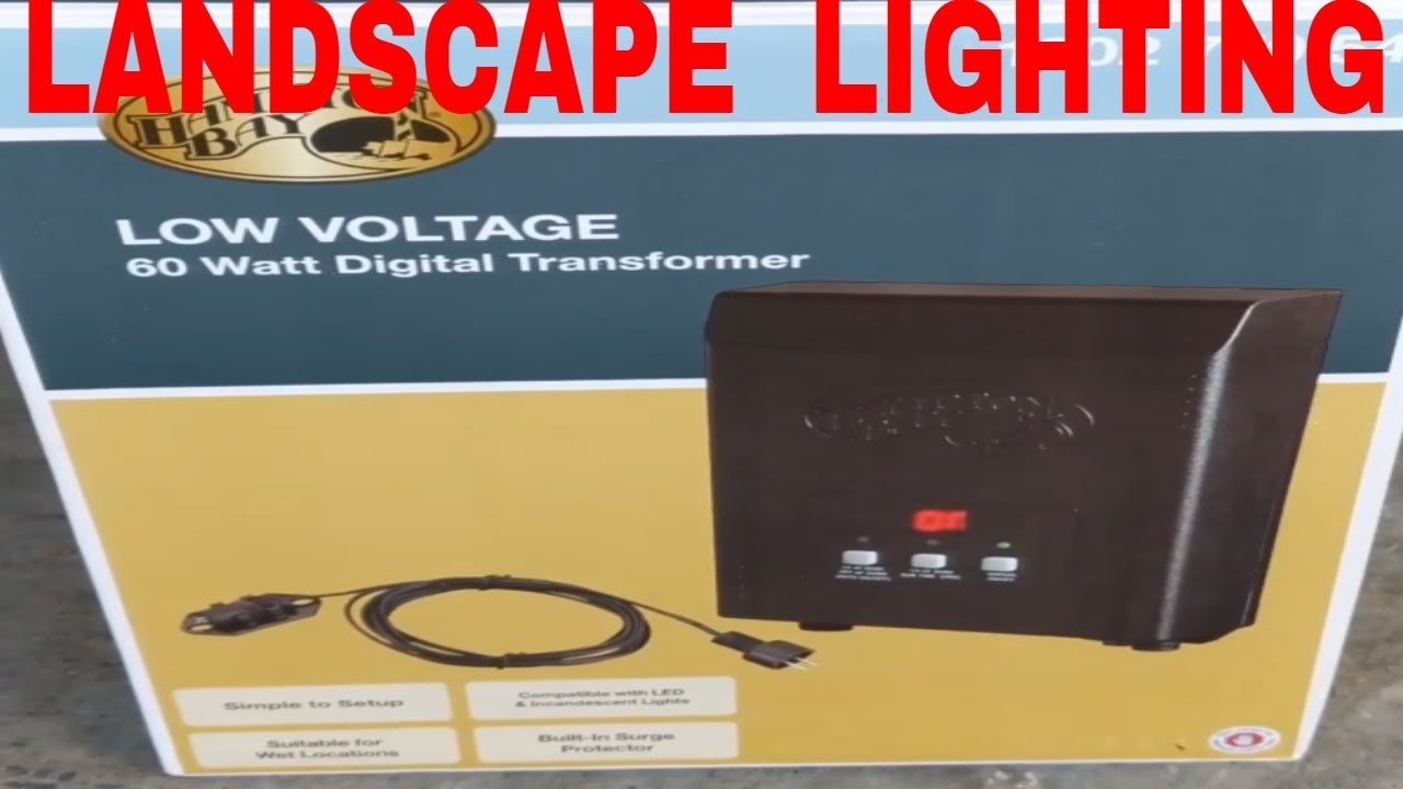 hampton bay low voltage digital transformer unboxing and install not including lights and wires