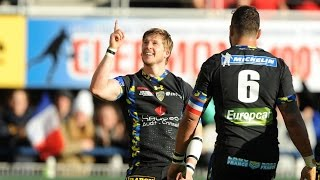 David Strettle scores a try for Clermont against Ospreys | Rugby video Highlights