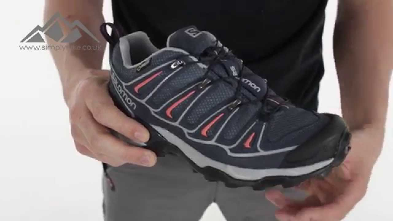 35fc297e678 Salomon Womens X Ultra 2 GTX Trail Shoe Grey Denim - www.simplyhike.co.uk -  YouTube