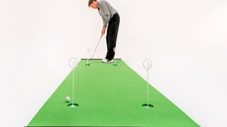 BirdieBall Putting Green Compared to Woven Synthetic Grass & Felt.