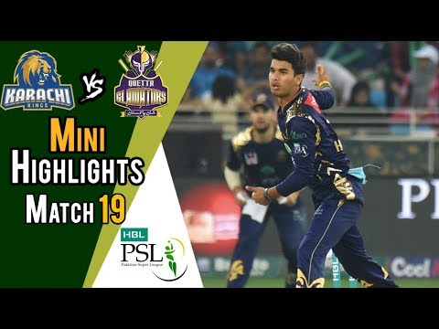 Mini Highlights | Quetta Gladiators vs  Karachi Kings | Match 19 | 8 March | HBL PSL 2018