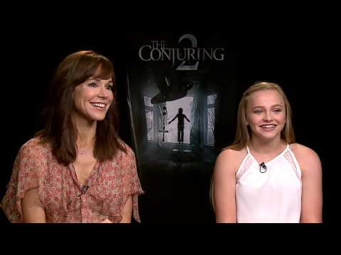 Frances O'Connor & Madison Wolfe Walk Among Spirits in THE CONJURING 2