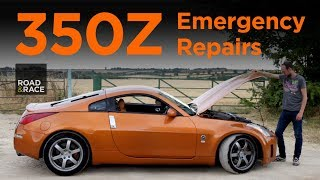 How to change engine belts on a 350Z. How to change the W brace on ...