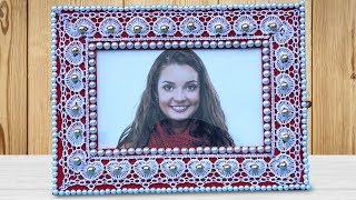 DIY Photo Frame from Cardboard | Easy Best Out Of Waste Crafts | Handmade Photo Frame Making