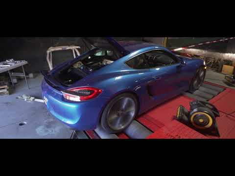 Porsche 981 Cayman Dyno and Sounds with Agency Power Throttle Body Kit Installed