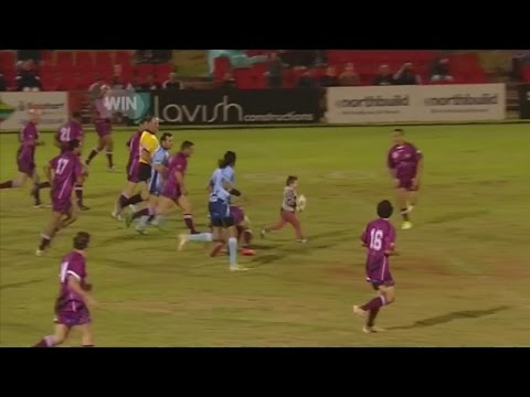 4-year-old scores try against rugby legends