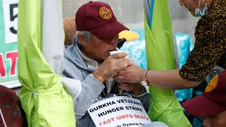 video: Gurkha hunger strike halted as ministers agree to veterans' pension talks
