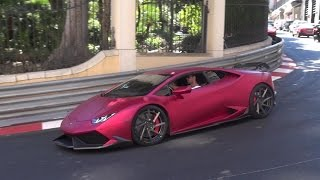 Lamborghini Huracán with Fi Exhaust - Lovely Engine Sounds in Monaco!