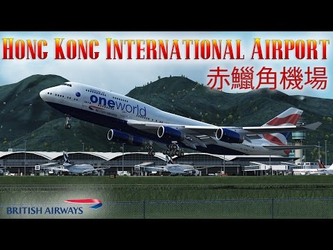 FSX [HD] - British Airways | Boeing 747-400 | Hong Kong Departure