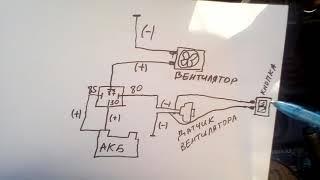 Схема подключения электовентилятора на ВАЗ ...