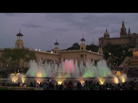 Placa d'Espanya/Plaza de Espana, Font Magica/Magic Fountain (Barcelona) HD