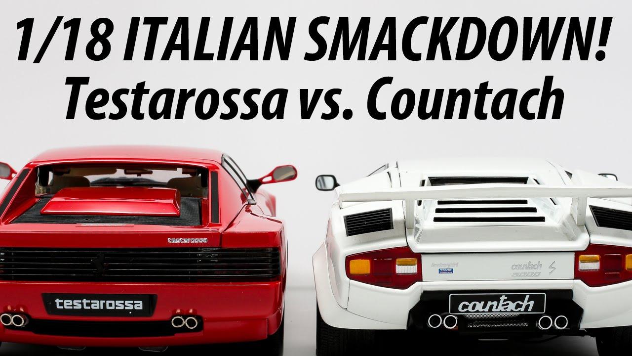 1 18 Smackdown Ferrari Testarossa Vs Lamborghini Countach Youtube