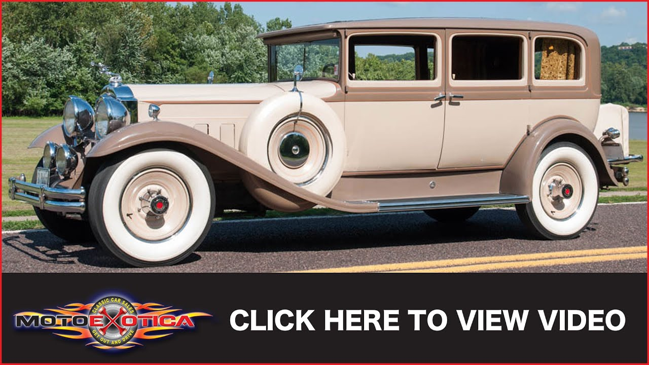 1931 Packard 845 Sedan Sold Youtube 1930 Chevy Spare Tire Mount