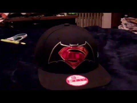 1de217c1451 New Era 9Fifty Chrome Batman V Superman Black Snapback Dawn of Justice BVS  Hat!