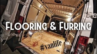 Flooring and Furring #vanlife (Day 3) making things fit