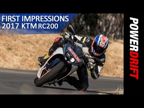 KTM RC200 (2017) : First Ride Impressions : PowerDrift Team ZigWheels