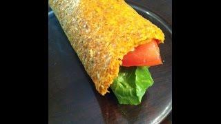 Raw Vegan Flax Wraps Gluten Free
