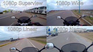 """GoPro hero 4 """"Video modes""""(Superview-wide-Linear-Narrow..)"""