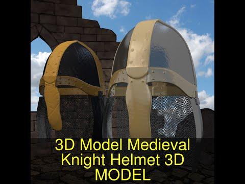 3D Model Of 3D Model Medieval Knight Helmet Review