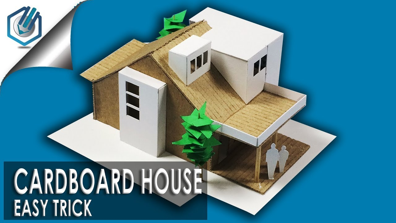High Quality How To Make Easy Modern House With Cardboard  With Dimensions