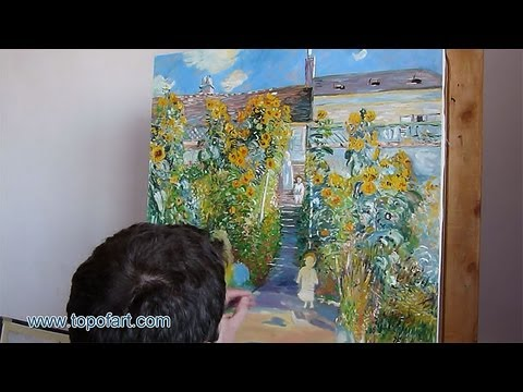 Art Reproduction (Monet   The Artistu0027s Garden At Vetheuil) Hand Painted Oil  Painting