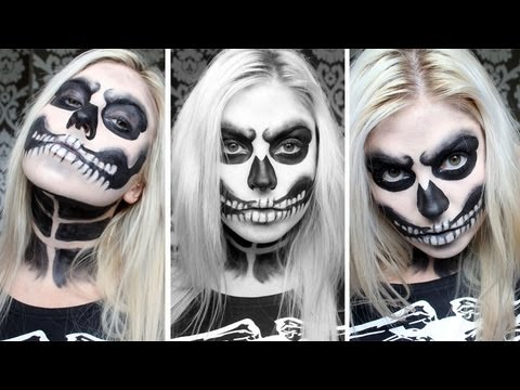 ♡ Angry Skeleton Makeup ♡ Halloween Costume ft Romwe - YouTube