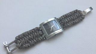 Как сплести браслет на часы из паракорда
