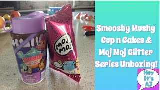 Smooshy Mushy Cup n Cakes &amp Moj Moj Glitter Series Unboxing! (first video) *Hey Its AJ*