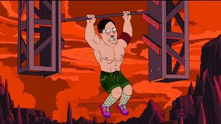 American Dad ITA - Stan partecipa all'Evasione dall'Inferno Ninja Warrior!!! (ft. Adolf Hitler)