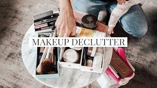 Makeup Declutter & Capsule Makeup Collection #cleanbeauty
