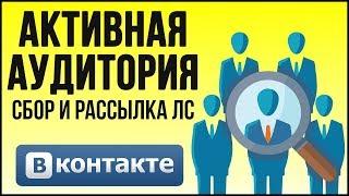 СБОР ЦЕЛЕВОЙ АУДИТОРИИ С РАССЫЛКОЙ ЛС В VK ДЛЯ ЗАРАБОТКА В ИНТЕРНЕТЕ