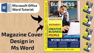 Magazine Cover Design in Ms wo…