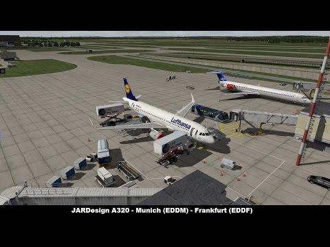 [X-Plane 10] A320 JARDesign | Lufthansa DLH97  | Munich (EDDM) To Frankfurt (EDDF)