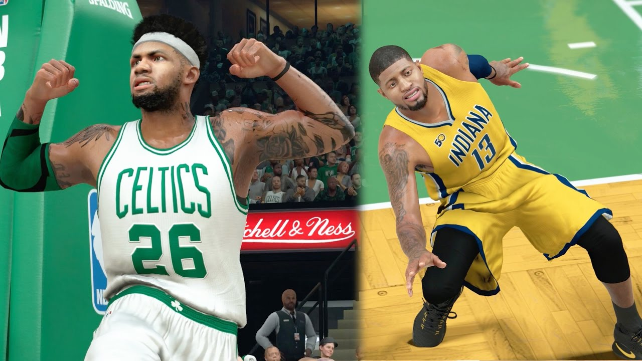 b63dc684a46 NBA 2k17 MyCAREER - 4 Ankle Breakers! Snapping Paul George s Ankles!  Justice Full Court Shot! Ep. 80 - YouTube
