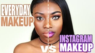 INSTAGRAM MAKEUP VS EVERYDAY REAL LIFE MAKEUP