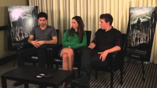 The Maze Runner Cast Interview - Dylan O'Brien, Kaya Scodelario, and Will Poulter
