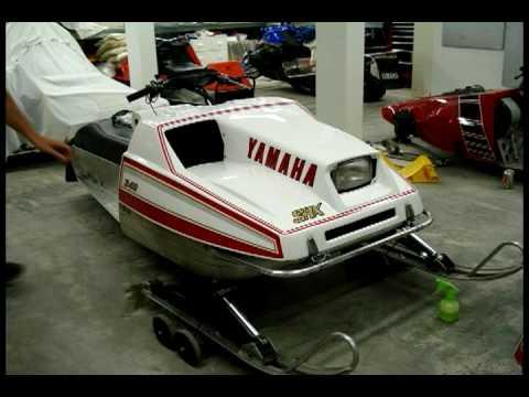 yamaha Vintage snowmobile racing