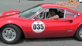 小谷CPで最も多い17台を撮影。名車フォラーリから見事なマセラティギブ...