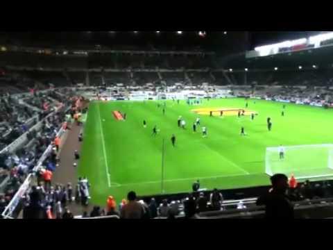 Newcastle united pre match warm up
