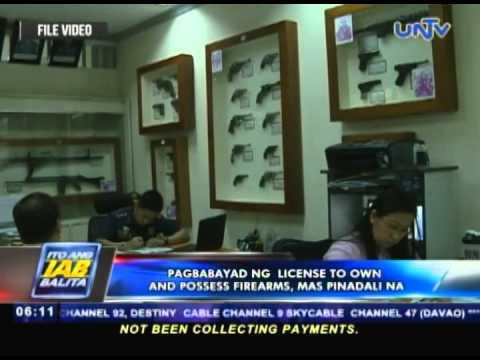 Pagbabayad ng license to own and possess firearms, mas pinadli na