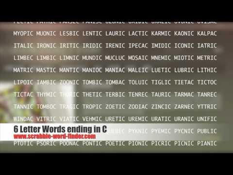 6 Letter Words Ending In C